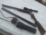 Rare JOSEF WINKLER of Ferlach/Austia made O/U rifle-shotgun with SCOPE & extra O/U shotgun barrel