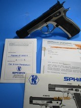 Rare, Swiss made SPHINX AT2000S cal 9mm Para, dual-tone pistol