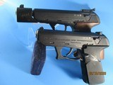 Rare Set of a HK P9S Sport Group III and a P9S cal 9mm pistol with identical S/N