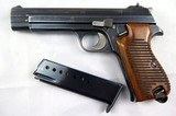 Rare, Swiss made SIG P210-49/HTK early, high polish Danish army pistol w. wooden grips - 1 of 13