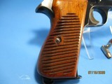 Rare, Swiss made SIG P210-49/HTK early, high polish Danish army pistol w. wooden grips - 12 of 13