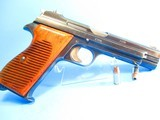 Rare, Swiss made SIG P210-49/HTK early, high polish Danish army pistol w. wooden grips - 5 of 13