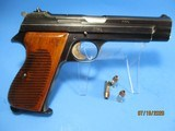 Rare, Swiss made SIG P210-49/HTK early, high polish Danish army pistol w. wooden grips - 4 of 13