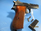Rare, Swiss made SIG P210-49/HTK early, high polish Danish army pistol w. wooden grips - 7 of 13