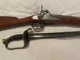 Civil War Model 1842 Harpers Ferry Musket and Model 1850 Civil War Sword
