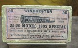 FS: Sealed Box of Winchester .25-20 W.H.V. Model 1892 Smokeless Metal Patched