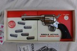 Colt Single Action Army 2nd generation Nickel 4 3/4 with Peacemaker Specialists action Job in stagecoach Box - 2 of 12