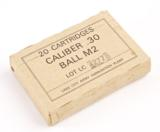 LAKE CITY ARMY AMMUNITION PLANT VINTAGE 20 CARTRIDGE BOX NATIONAL MATCH CALIBER .30 BALL M2