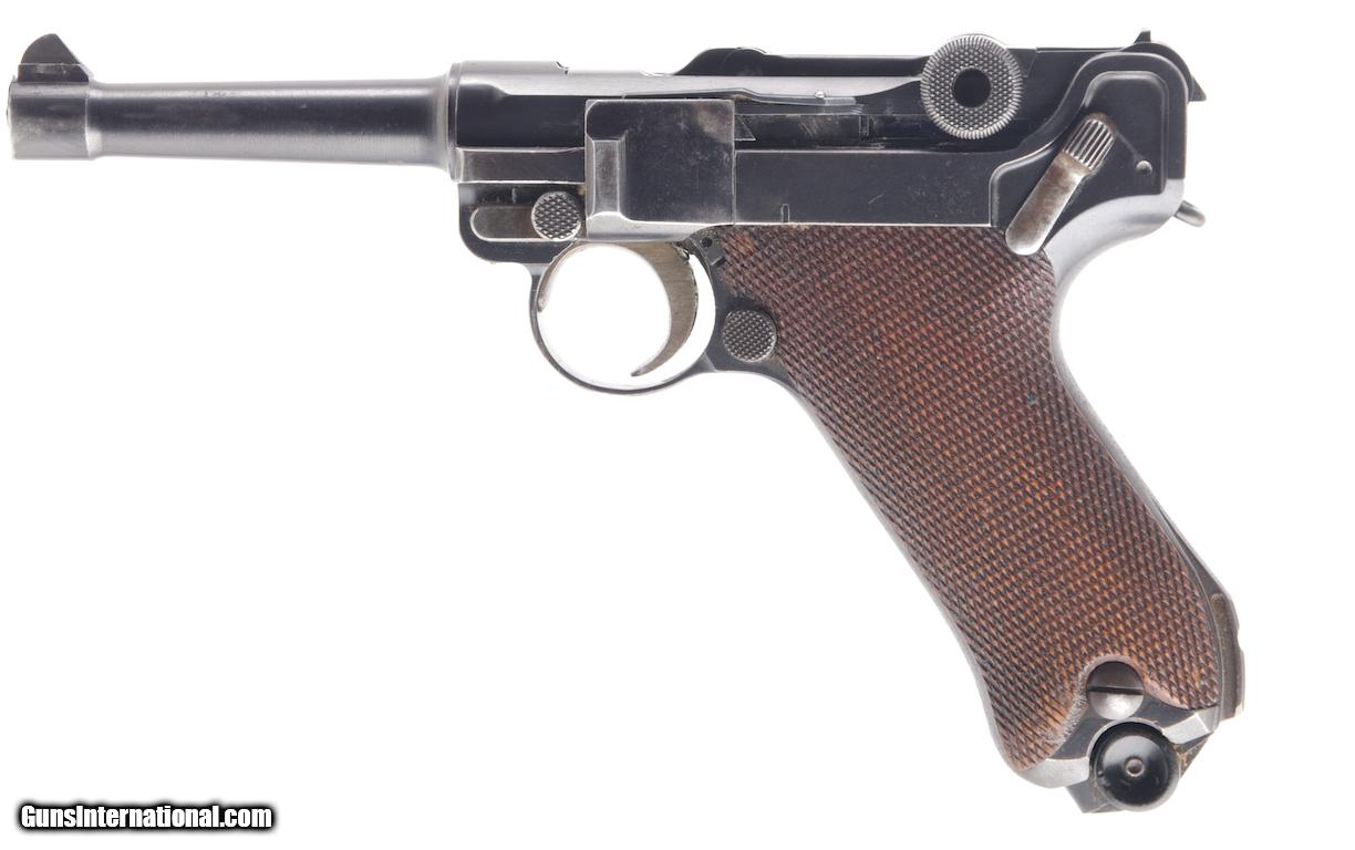 MAUSER P.08 LUGER 9MM SEMI-AUTO PISTOL WITH 4 IN. BBL., 2 ...