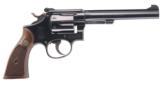 SMITH & WESSON K22 MASTERPIECE .22 LR DA/SA TARGET REVOLVER WITH 6 IN. BBL. MFG. 1948, IN ORIG. S&W BOX