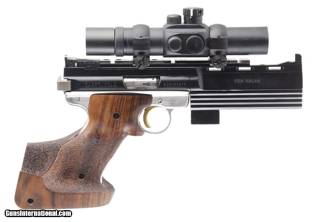 RUGER MK II CUSTOM  22 LR SEMI-AUTO TARGET PISTOL WITH 6 IN