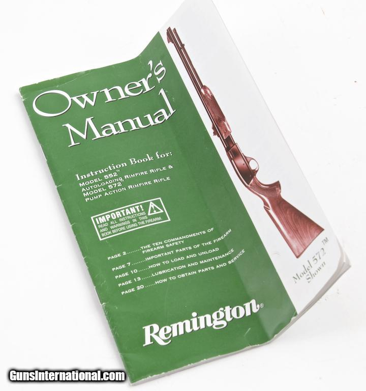 REMINGTON MODEL 552 SPEEDMASTER BDL DELUXE 22 S L LR SEMI