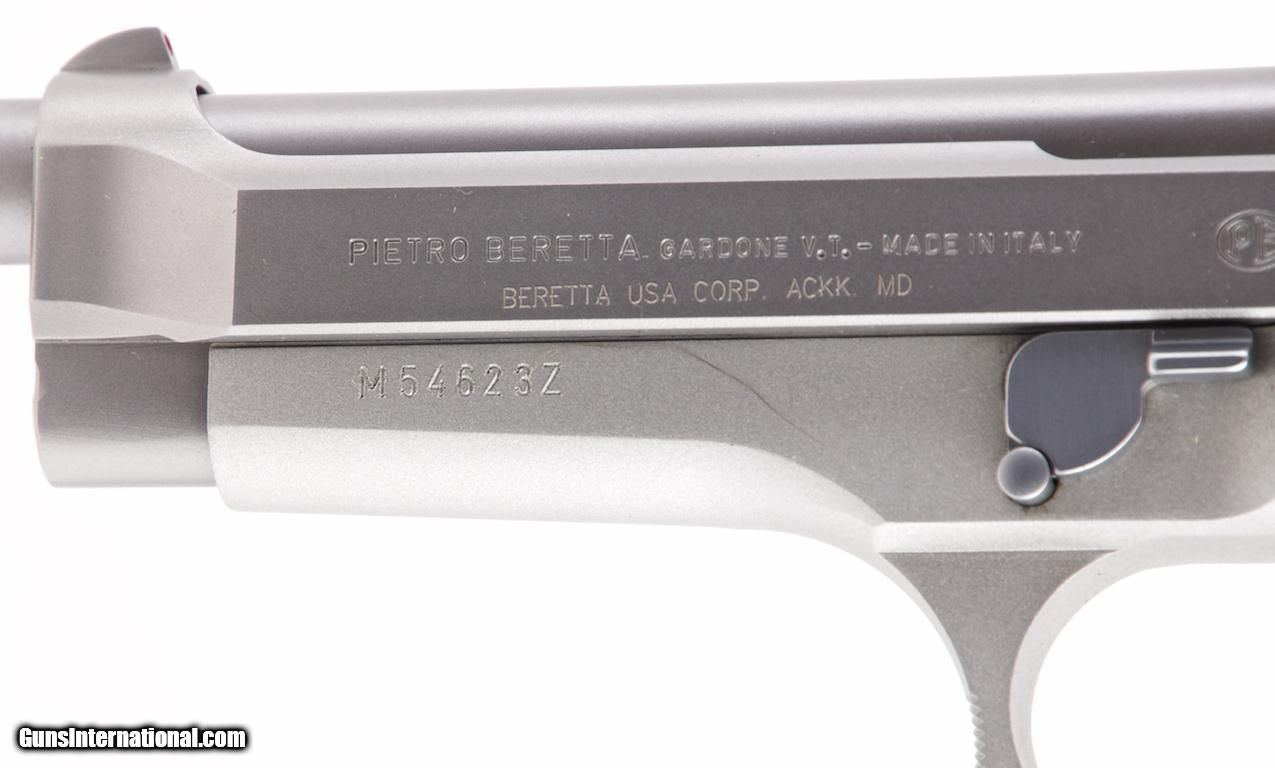 BERETTA 92 FS INOX 9MM DA/SA SEMI-AUTO PISTOL 4 3/43