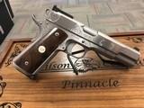 Wilson Combat Pinnacle Engraved .45acp Stainless Pistol