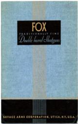 A H Fox Original 1936 gun catalog - 1 of 1
