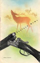 Original Ferlach Arms gun catalog Circa 1946