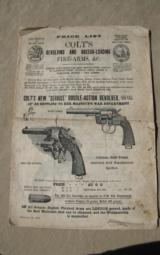 Original English Colt 1900 Catalog
