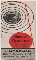 Original pre-war Hoffman Arms Catalog
