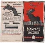 Marbles 1938 Game Getter Advertising Brochure - 1 of 1