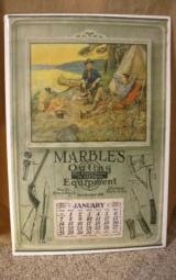 Marbles Original 1923 Calendar - Philip R. Goodwin image - VERY RARE - 1 of 4