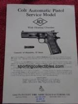 "ORIGINAL COLT ""ACE"" INSTRUCTIONS"
