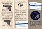 COLT INSTRUCTIONS GOVERNMENT MODEL 45 AUTOMATIC PISTOL ORIGINAL - 1 of 3