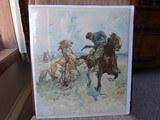 "SMITH & WESSON CARDBOARD POSTER ""THROUGH THE LINE"" BY DAN SMITH - ORIGINAL Circa 1902 - 1 of 8"