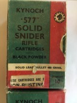 Kynoch 577 Snyder ammo