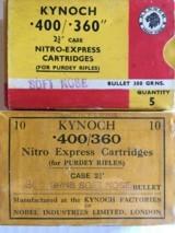 Kynoch 400-360 Purdey Ammo