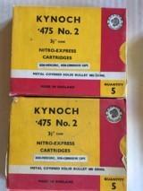 Kynoch 475 #2 Ammo