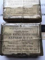 Westley Richards Express Ammo