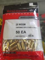 Winchester 25 WSSM Brass 50ct