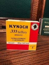 .333 Jeffery Rimless by Kynoch - 1 of 1