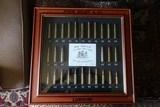 John Rigby & Co. Framed Cartridge Display