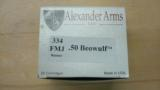 ARMALITE / ALEXANDER ARMS M15 .50 BEOWULF W/ 200 ROUNDS AMMO MINT - 10 of 10