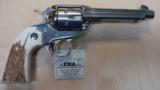 RUGER N VAQUERO BISLEY 45LC POLISHED SS W/ STAG - 1 of 2