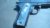 COLT 1911 GOVERNMENT .45 CONSECUTIVE PAIR FACTORY ENGRAVED NICKEL W/ MOTHER OF PEARL GRIPS - 13 of 13