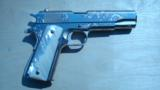 COLT 1911 GOVERNMENT .45 CONSECUTIVE PAIR FACTORY ENGRAVED NICKEL W/ MOTHER OF PEARL GRIPS - 10 of 13