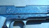 COLT 1911 GOVERNMENT .45 CONSECUTIVE PAIR FACTORY ENGRAVED NICKEL W/ MOTHER OF PEARL GRIPS - 5 of 13