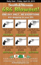 SMITH AND WESSON S&W 686 .357 BLOWOUT ONE DAY SALE SKU: 164222 164224 164192 162300 162194 162198 - 1 of 1