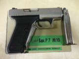 RARE H&K P7M40 40CAL IN FACTORY NICKEL FINISH - 1 of 2