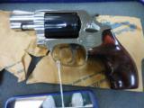 "RARE S&W MOD 36 TWO TONE 38SPL 2"" NICKEL GUN BLUE CYLINDER - 1 of 3"