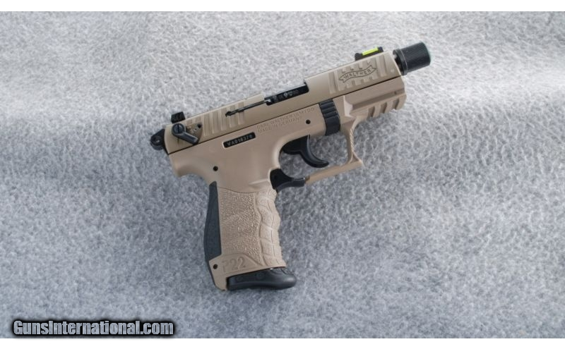 Walther P22 FDE Tactical  22 LR