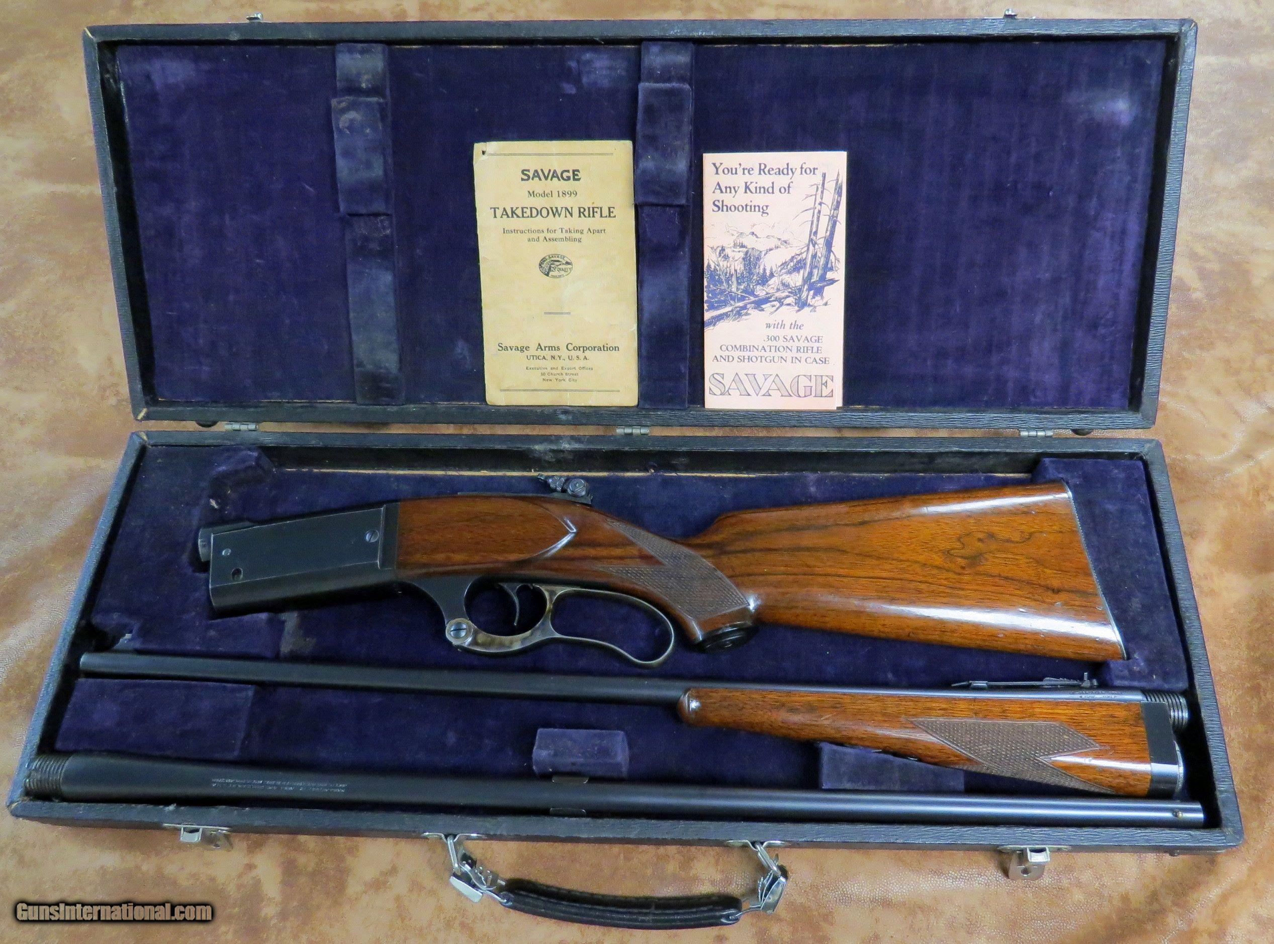 A Fantastic Factory Cased Savage Model 1899 Combination Set 300