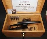 MINTY E.E. WITTIG 30-30 CALIBER BLACK POWDER CANNON