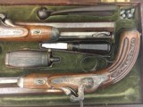 FINE CASED LARGE BORE OFFICERS OR DUELING PERCUSSION PISTOLS BY LEPAGE PARIS - 4 of 15