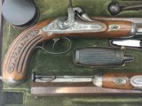 FINE CASED LARGE BORE OFFICERS OR DUELING PERCUSSION PISTOLS BY LEPAGE PARIS - 3 of 15