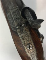 FINE CASED LARGE BORE OFFICERS OR DUELING PERCUSSION PISTOLS BY LEPAGE PARIS - 10 of 15