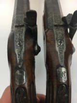 FINE CASED LARGE BORE OFFICERS OR DUELING PERCUSSION PISTOLS BY LEPAGE PARIS - 11 of 15
