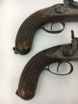 FINE CASED LARGE BORE OFFICERS OR DUELING PERCUSSION PISTOLS BY LEPAGE PARIS - 8 of 15